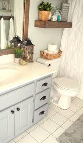 Aldi Bathroom Cabinet Modern Farmhouse Inspired Bathroom Makeover One Room One Month