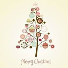 merry christmas modern merry christmas tree triangle composition eps10 file vector art