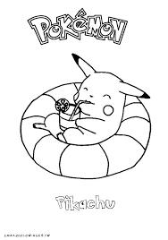 20 dessins de coloriage Pokemon Pikachu à imprimer