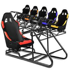 Racing Simulator Chair Pvc Leather Woven Cockpit Drive Racing Simulator Stand Gaming
