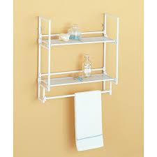 White Bathroom Shelf With Hooks white bathroom wall shelves bathroom wall shelves bathroom wall