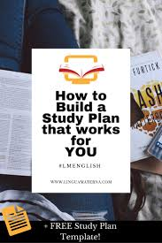 17 best create a great study plan images on pinterest languages
