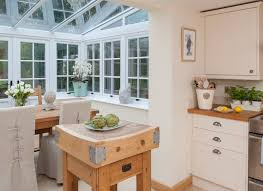 kitchen conservatory ideas country kitchen with pretty conservatory dining area