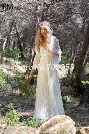 boho wedding dress plus size 2016 vintage bohemian boho wedding dress v neck lace wedding