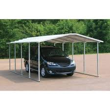 minimalist whiite nuance of the metal carport plans can be decor