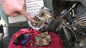 cleaning the carburetor on a yamaha big bear 350 youtube