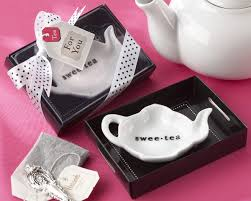 tea party bridal shower favors swee tea ceramic tea bag caddy in black white gift box my