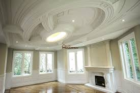 futuristic living room ceiling design coffered and waffle