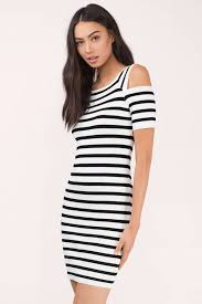 black and white dresses white black bodycon dress cold shoulder dress bodycon dress