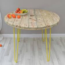Hairpin Leg Dining Table Cable Reel Dining Table With Hairpin Legs By Frances Bradley