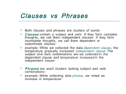 types of clauses