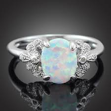 opal stones rings images Haimis wholesale retail elegant oval white fire opal stones claw jpg