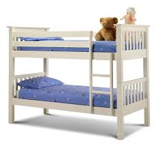 Julian Bowen Barcelona Single Bunk Bed Stone White Amazoncouk - Images for bunk beds
