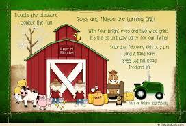 free john deere farm birthday invitations template free