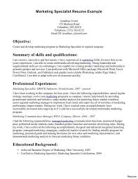 cv resume exle resume templates email marketing specialist sle exle writenwrite