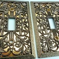 fancy light switch covers fancy light switch covers vintage brass light switch plate covers 2