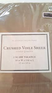 Crushed Voile Sheer Curtains by Crushed Voile Sheer Taupe 50 Inx216 Window Scarf Valance Finest