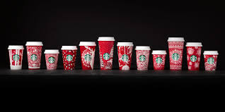 starbucks thanksgiving day starbucks releases 2016 holiday red cups starbucks red cups