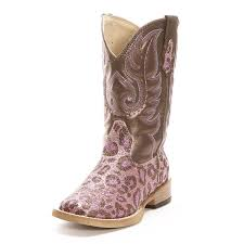 roper leopard pink cowgirl boots