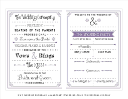 wedding anniversary program hobby lobby wedding program templates write happy ending