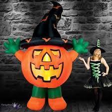 Halloween Outdoor Decorations Ebay 3m giant standing inflatable light up pumpkin witch halloween