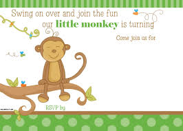 get free printable little monkey birthday invitation template
