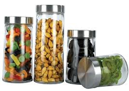 Glass Kitchen Canisters 100 Oggi Kitchen Canisters Oggi 3 Piece Stainless Steel
