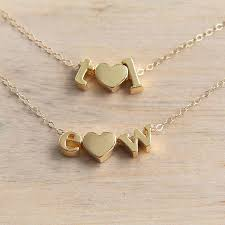 jewelry personalized heart necklace gold letter necklace necklace dainty