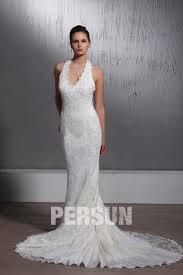 robe de mariã e traine robe de mariée dentelle sirène trompette à col américain à traîne