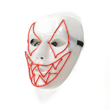 smiling face teeth mask halloween show glowing masks party