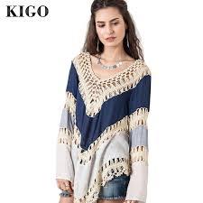 moda boho aliexpress comprar kigo moda boho blusa casual ropa