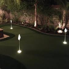 Backyard Putting Green With Cup Lights Designing The Perfect Home