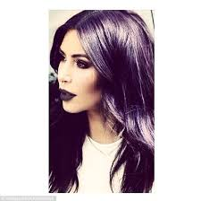 black women with purple hair kim kardashian rocks black lipstick and purple hair in vy