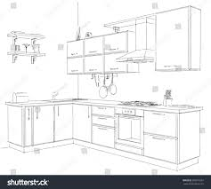Sketch Kitchen Design by Pencil Draw Kitchen Cabinets Kitchen Lighting Draw Plumbing