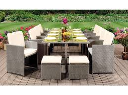 free fast uk delivery 12 seater rattan garden furniture cube set