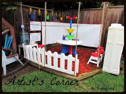 make an artists corner in the yard that u0027s perfect for little
