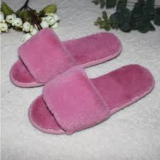 Ladies Bedroom Slippers Plush Home Slipper Spring Shoes Fuzzy Winter Indoor Slipper Open