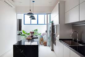 kitchen central island houses white and bright modern kitchen with central