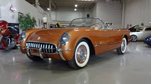 corvette stingray 1955 1955 chevrolet corvette roadster in copper paint v8 engine sound