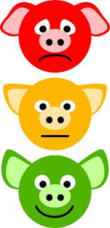 clipart pig traffic lights