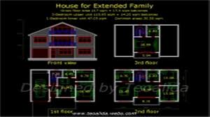 2 storey house floor plan with dimensions youtube