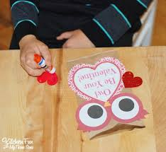printable paper bags valentine owl craft paper treat bags with a free printable