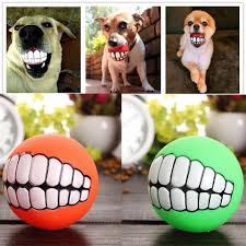 funny halloween gifts halloween special pet puppy dog funny ball teeth silicon toy