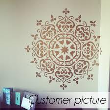 mandala style stencil floral motive wall stencil original and mandala style stencil floral motive wall stencil original and unique wall stencil