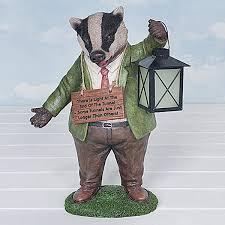 bertie badger garden ornament