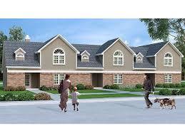 Multi Family House Plans Triplex Townhouse Plans U0026 Townhouse Floor Plans U2013 The House Plans Shop