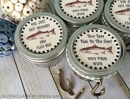 labels for wedding favors fishing themed wedding favors cajun spice fish rub with free