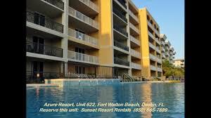 azure resort unit 622 sunset resort rentals okaloosa island