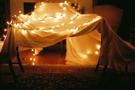 photography pretty sparkles lights blanket pillow fort