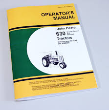 john deere 630 tractor owners operators manual gas all fuel